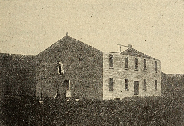 An early photograph of the building still under construction.