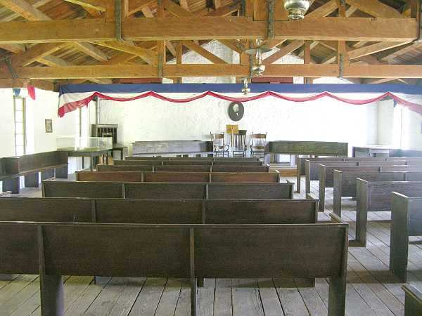 The restored upper level of the building where the council and senate were seated for a short time.