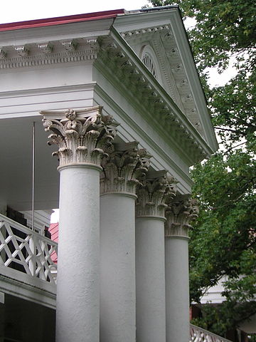 Corinthian Capitals and Upper Level of Pavilion III