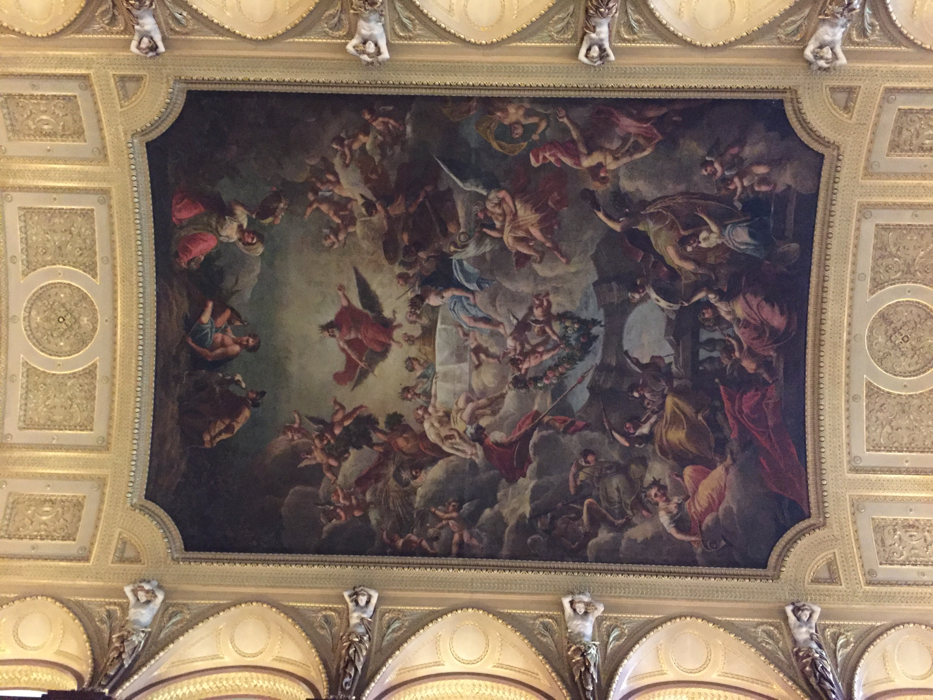 Ceiling painting in the great hall