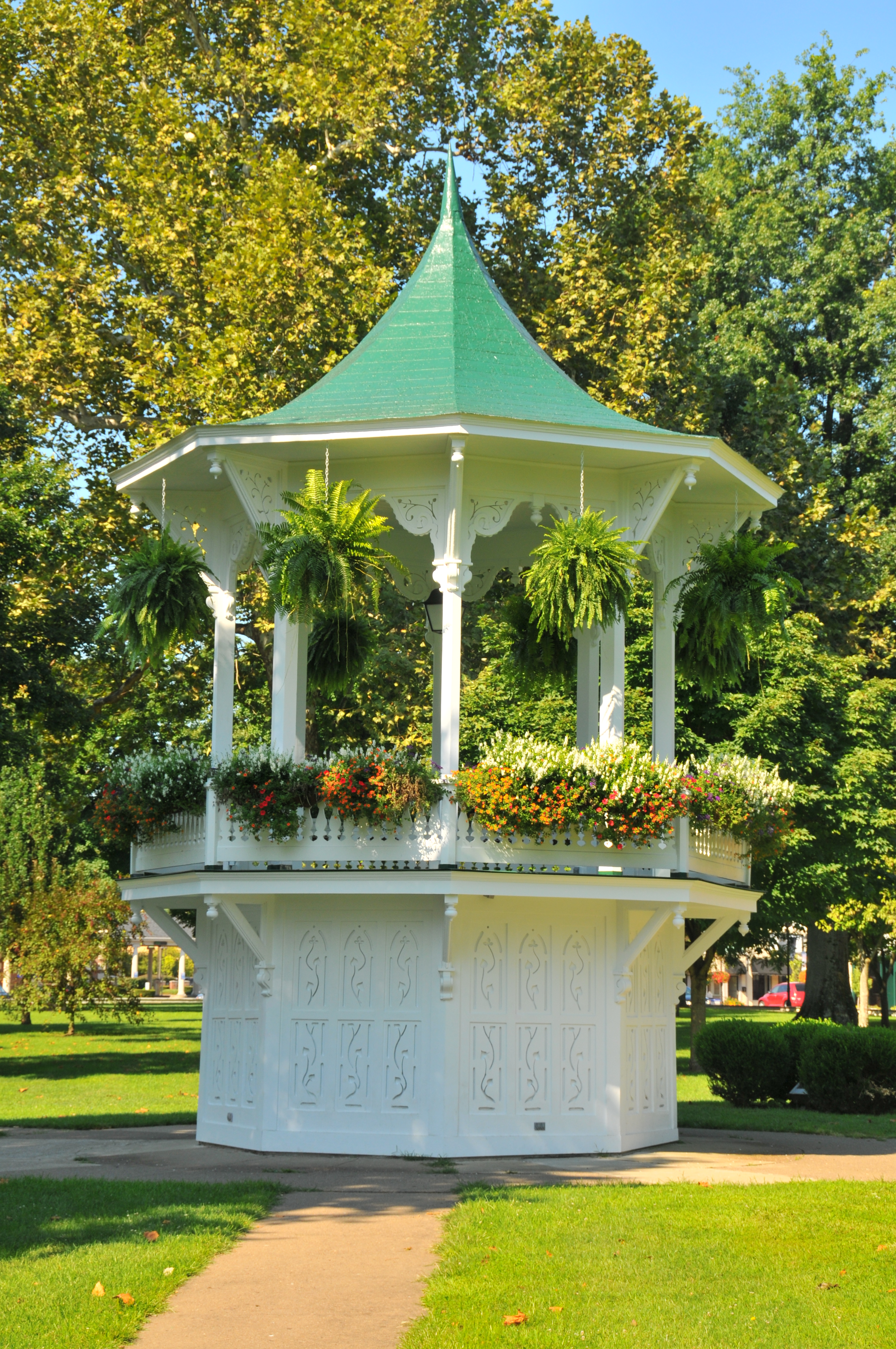 This bandstand was constructed in 1876 as a memorial to Gallia County Civil War veterans.