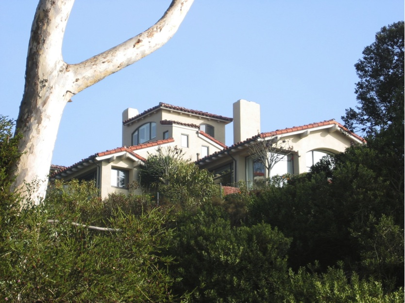 "A view of the former La Jolla home near the Mount Soledad Cross where ""Dr. Suess"" spent his last remaining years."