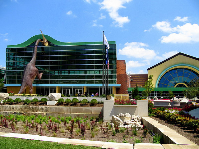 Front entrance of the Children's Museum of Indianapolis
