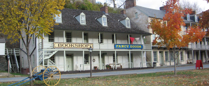 Built in 1826, the John G. Wilson has housed stores, offices, residences, and a hotel over the course of its history. Image obtained from the Harpers Ferry Park Association.