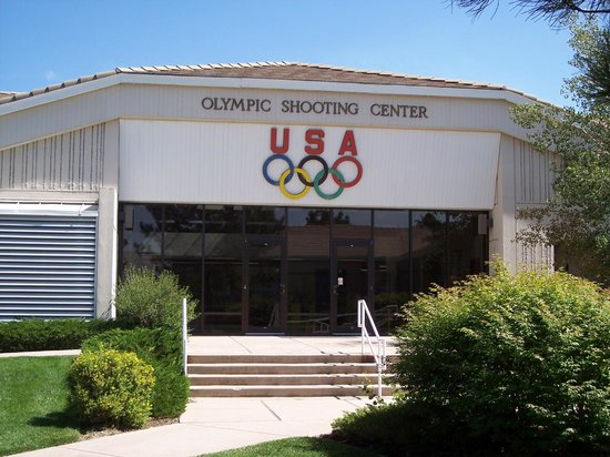 The main entrance to the building.