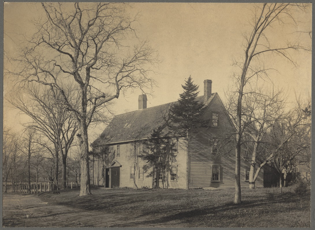 Pierce House ca. 1898, Courtesy of Digital Commonwealth