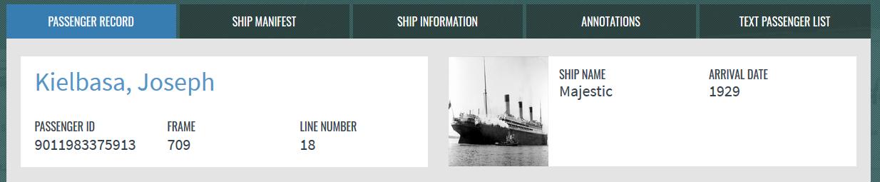 Passenger & Ship Info