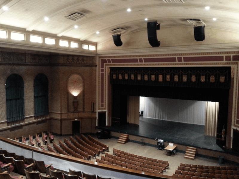 The school's auditorium