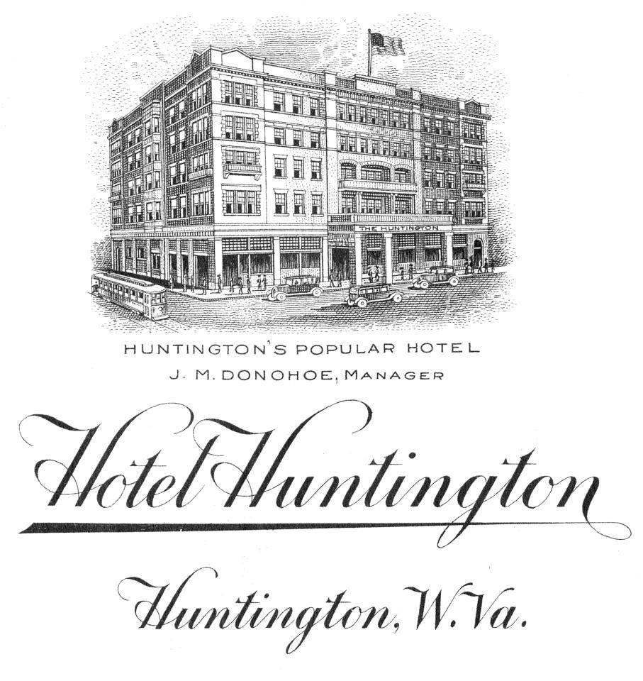 "Ad for the Hotel Huntington, ""Huntington's Popular Hotel"""