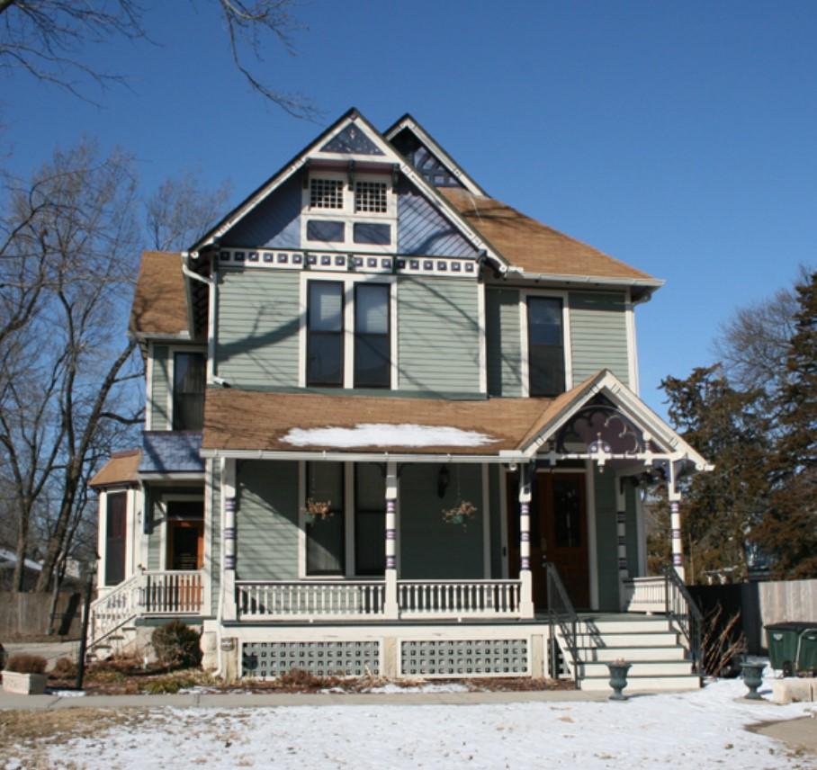Photograph of east elevation of Eugene F. Goodrich House ca. 2008 (KSHS)