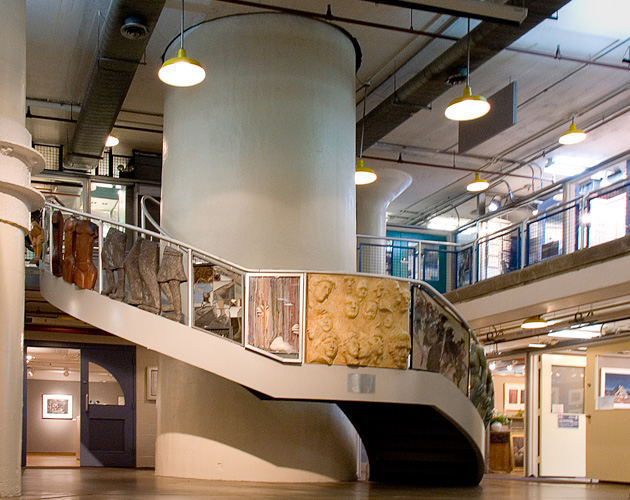 Torpedo Factory interior, image courtesy of the Torpedo Factory Art Center.