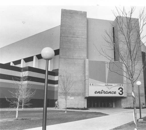 Taco Bell Arena Entrance 3 (Before Name Change) Provided by BSU Special Collections.