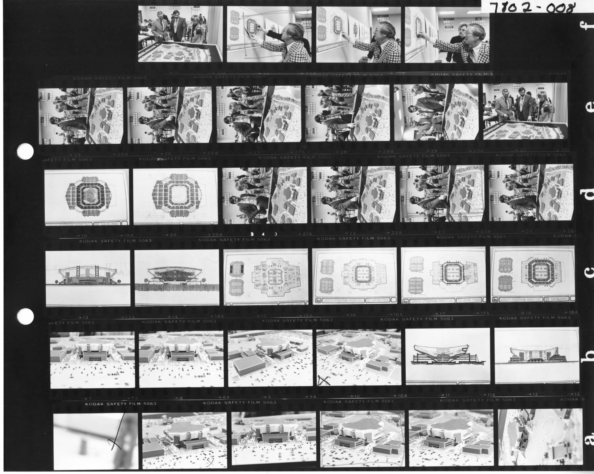 Contact sheet of building plan/models. Provided by BSU Special Collections.
