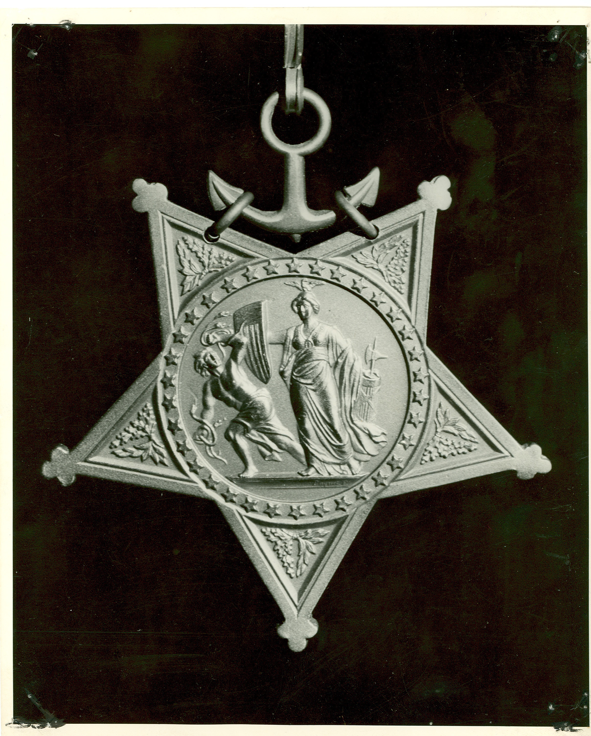 Front view of Munro's Congressional Medal of Honor. This image was found at-
