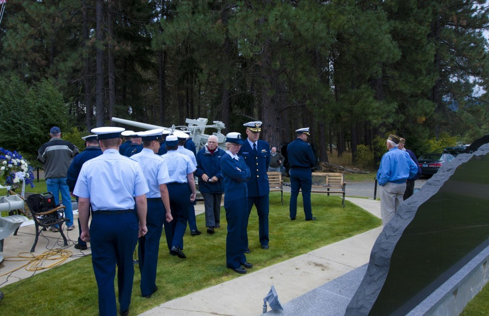 U.S. Coastguard members at the memorial dedication for Signalman 1st Class Douglas Munro, Sept. 27, 2012