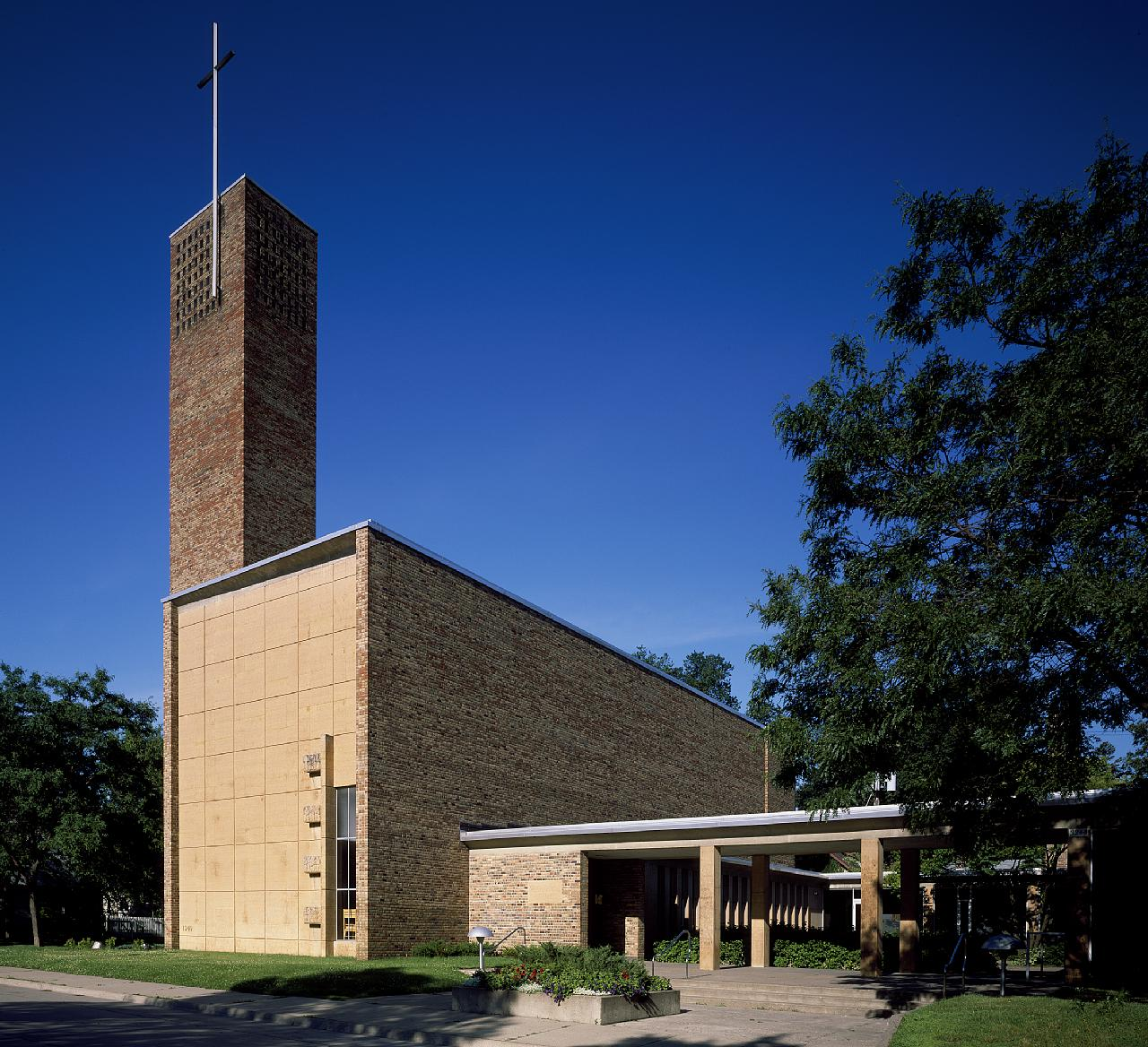 Christ Church Lutheran was built in 1949 and is recognized as one of Eliel Saarinen's greatest works.