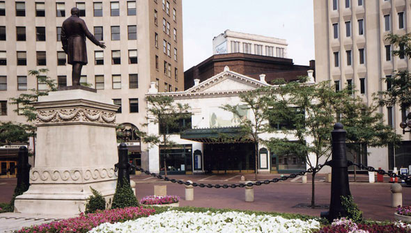The Circle Theater is located in the heart of downtown Indianapolis