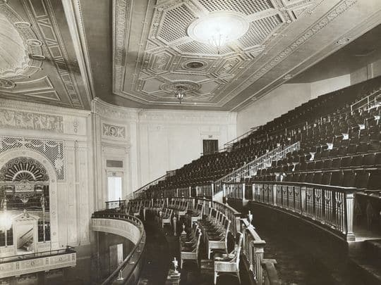 This photo of the Hilbert Circle Theatre's auditorium was taken shortly after it opened in 1916.