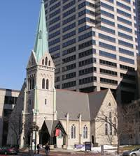 The last of five churches that once stood within a block of Monument Circle, Christ Church was completed prior to the Civil War.