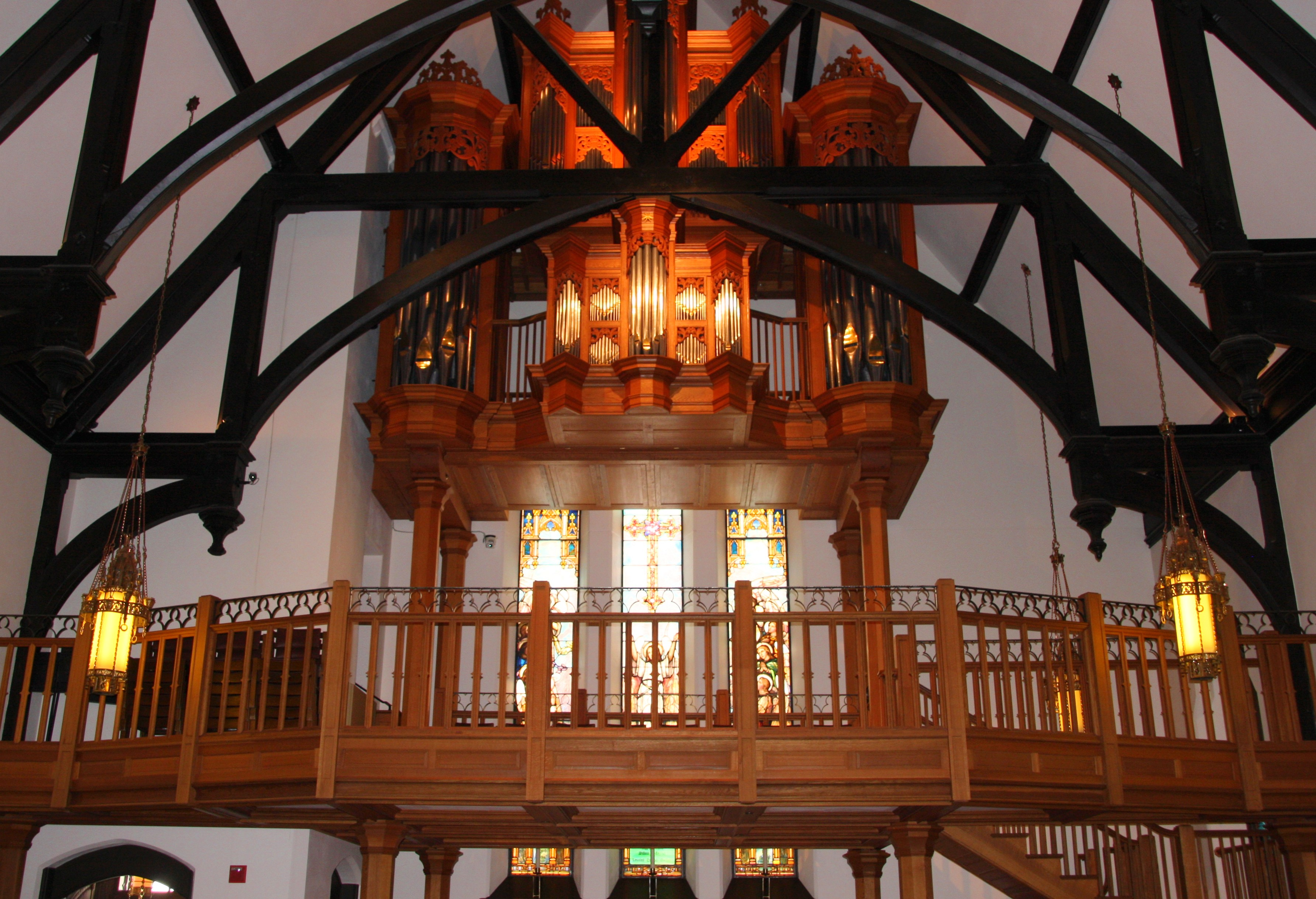 The organ loft on the cathedral's west side.