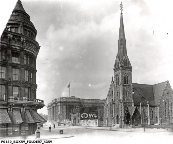 Christ Church Cathedral in 1905. Courtesy of the Indiana Historical Society, Bass Photo Company #4359