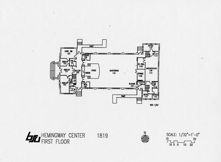 First Floor of Assembly hall floor plan