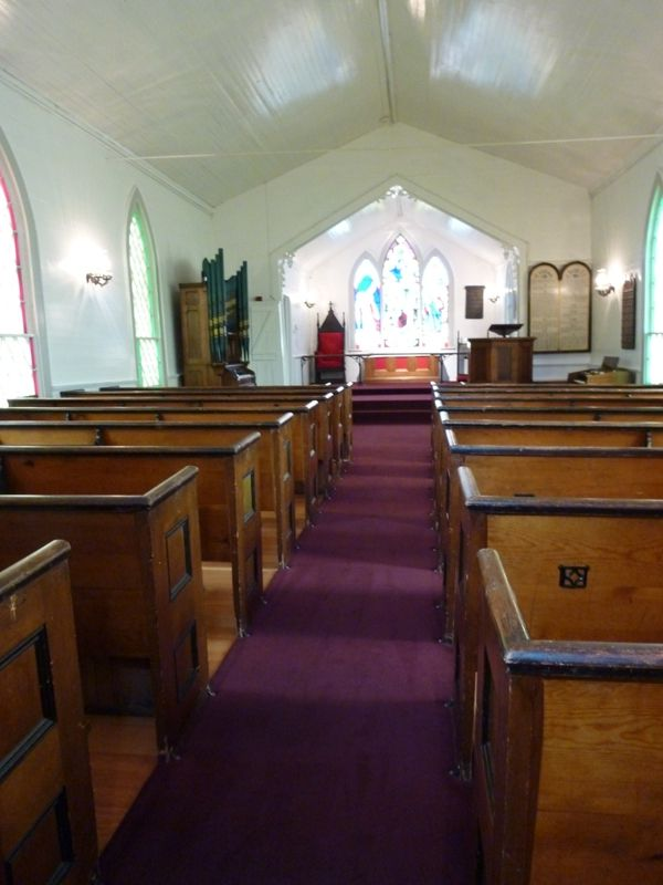 Interior view to alter.