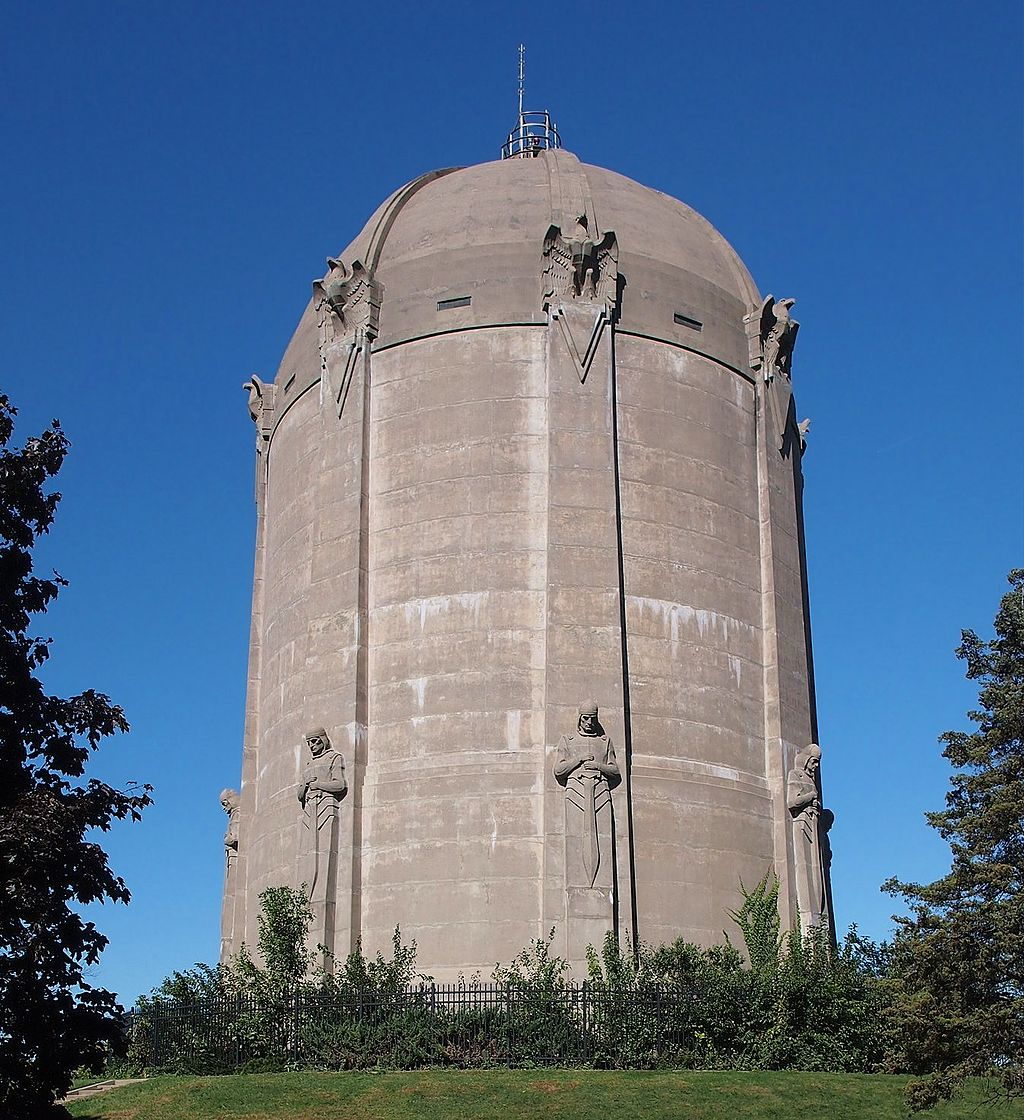 The Washburn Park Water Tower was built in 1932 and still functions today.