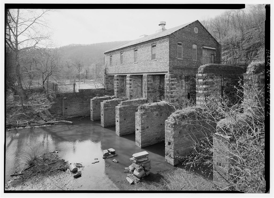 The power plant remains standing today as an example of early American industry and waterpower technology. Image obtained from the National Park Service.