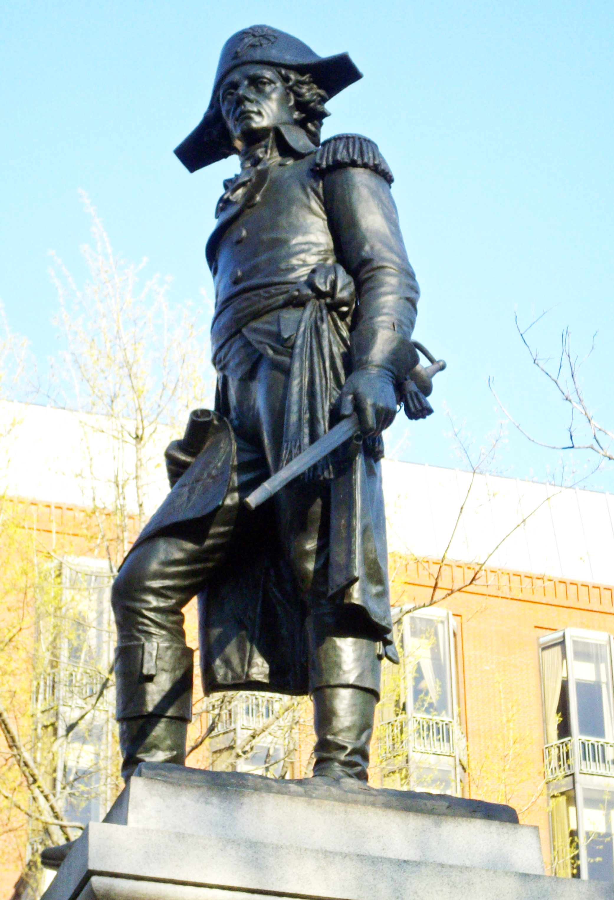 The statue of Thaddeus Kosciuszko in Lafayette Park.