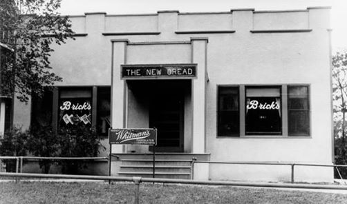 Brick's Cafe was located directly north of the Kansas Union in the area now occupied by the Union's parking garage.