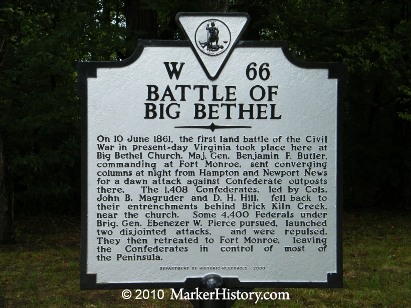 Marker on the location of the battle with a brief account of the action.