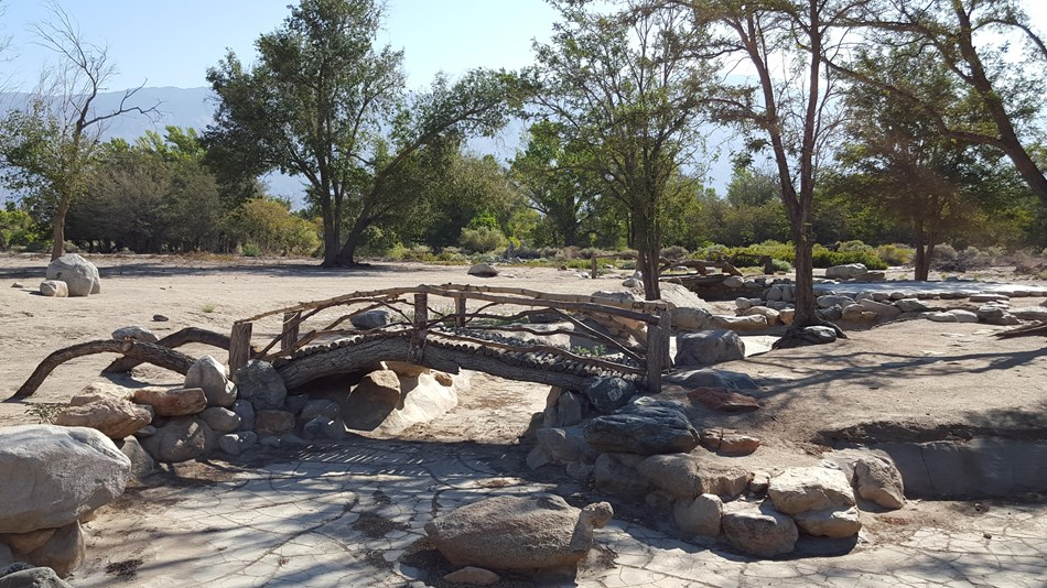 Kuichiro Nishi bridge in the Merritt Park area of Manzanar.