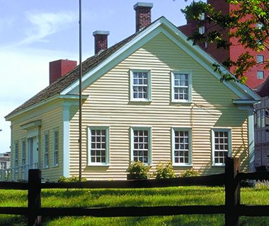 Built in 1848, the Ard Godfrey House is the oldest house in the city. Photo: Minneapolis Park and Recreation Board