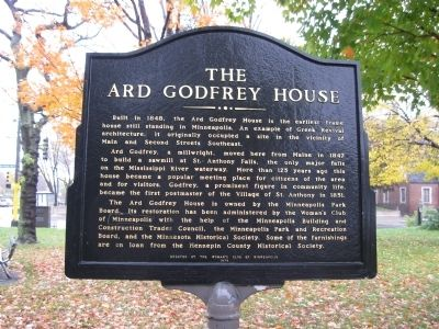 This historical marker is located near the house. Photo: Keith L, via The Historical Marker Database.