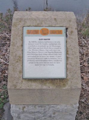 This historical marker is part of the Saint Anthony Falls Heritage Trail. Photo: Keith L., via The Historical Marker Database.