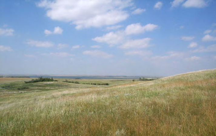 View of the Big Mound battlefield site.