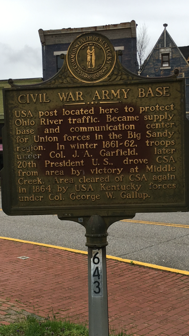 Close up of the marker, which was dedicated in 1964.