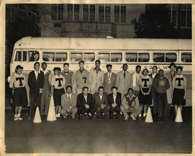 Black students formed their own teams, debate squads, and student clubs because Topeka High School barred their participation in extracurricular activities until the 1950s.