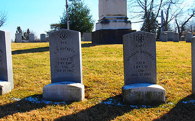 Graves of some of the Confederate Soldiers.
