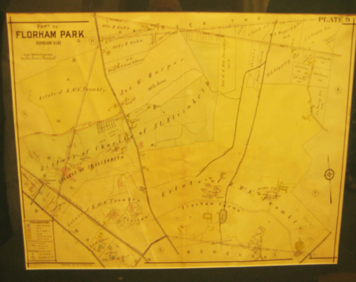 Florham on a 1910 map of Florham Park NJ