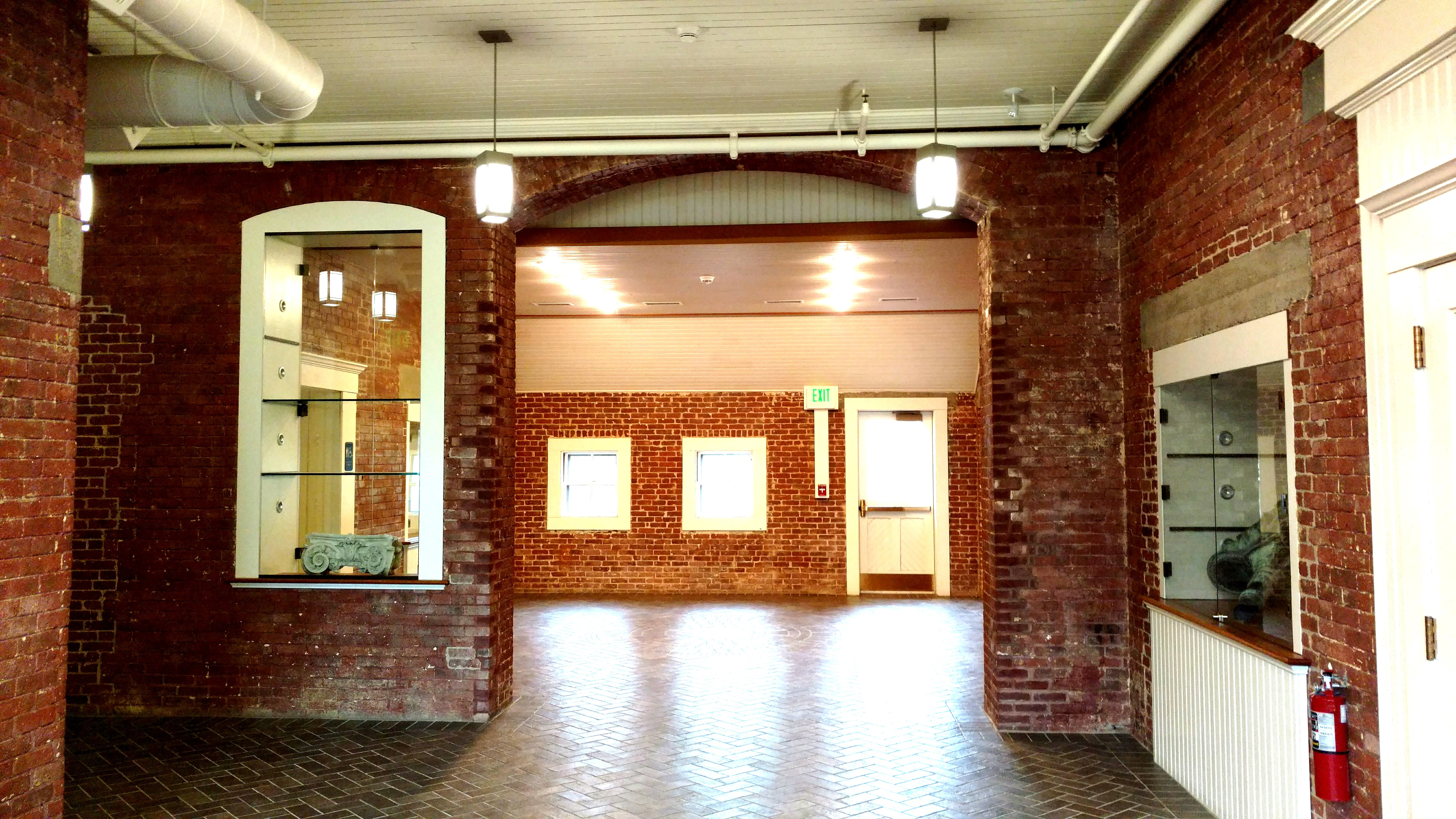 Another example of the wide-arched doorways of the stables. Photo taken by Ellen Tuttle near DiStefano Lecture Hall in Antone Academic Center.