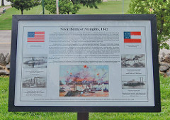 Naval Battle of Memphis Historical Marker