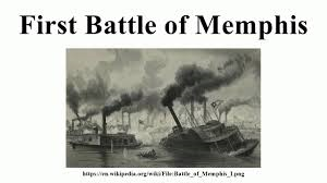 Listing ship in the Battle of Memphis