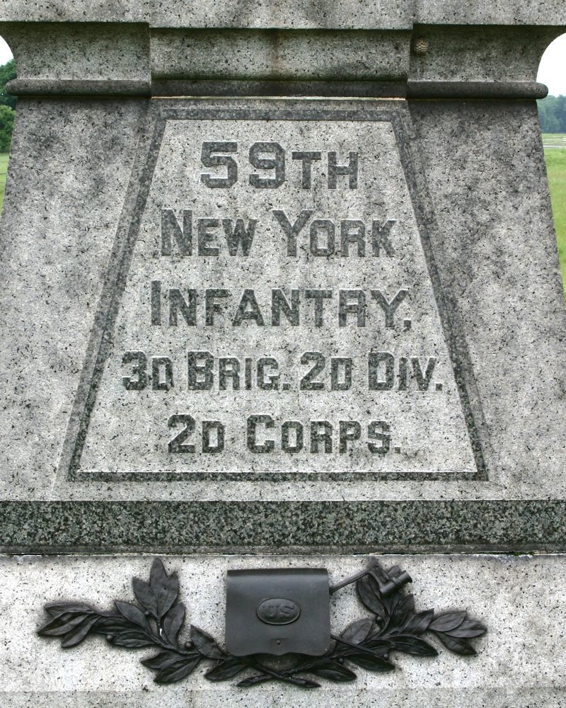 59th New York Infantry 3rd Brig. 2nd Div. 2nd Corps.