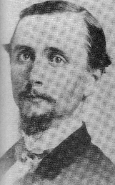 """Lieutenant Colonel Max A. Thomas (1830-1863) commander 59th New York Infantry.  Nick name """"Jack of Diamonds""""."""