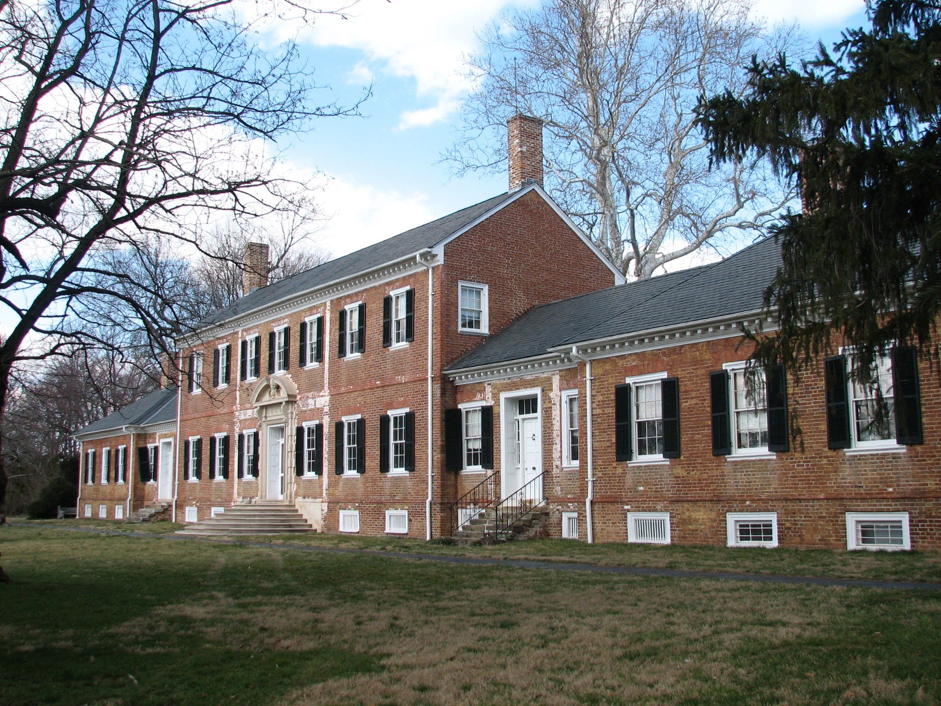 Present day Chatham Manor in Fredericksburg, VIrginia.