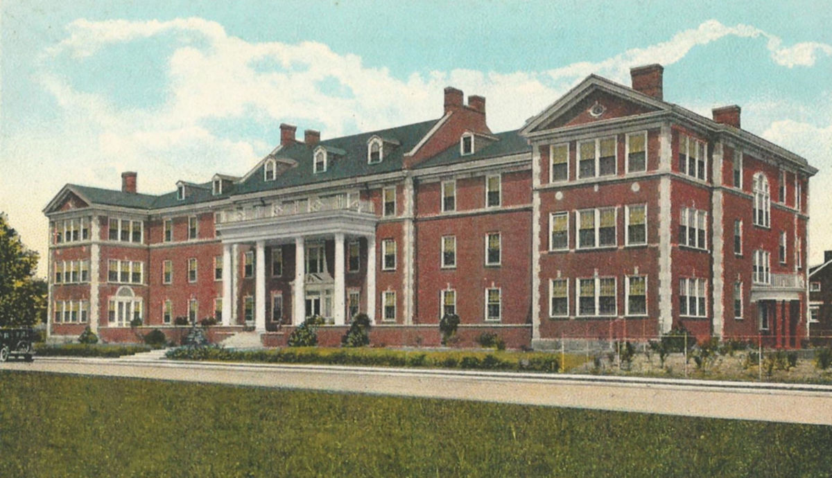 Old postcard depicting the Foster Memorial Home, courtesy of James E. Casto.