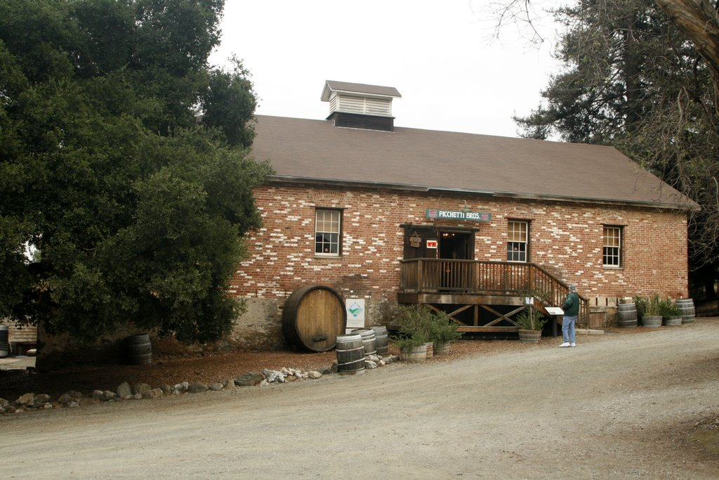 Picchetti Brothers Winery — Picchetti Ranch Winery main building, in the Santa Cruz Mountains, Santa Clara County, California.