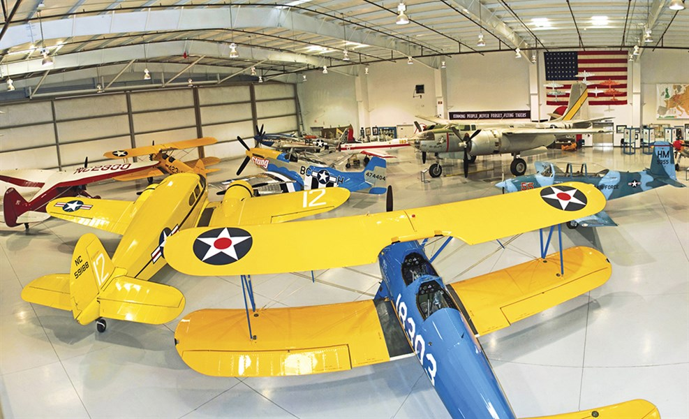 Some of the historic aircraft on display at the museum